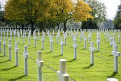 Brittany amerykanina cmentarz Zdjęcie Royalty Free