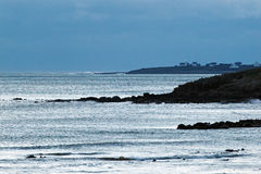 Audierne bay in Brittany  coast. Brittany, beach in  audierne bay Stock Photo