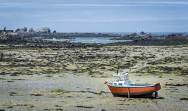 Brittany Beach at Low Tide Royalty Free Stock Images