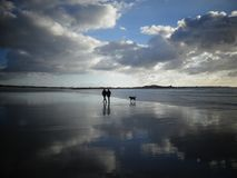 Brittany, Beach, Sea, Sun, Clouds Royalty Free Stock Image