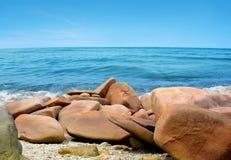brittany brzegowe France granitu menchie Zdjęcie Royalty Free
