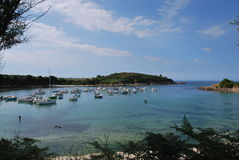 Brittany coast. In france near roscoff Royalty Free Stock Images