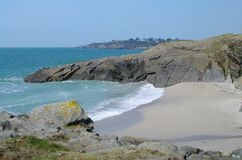 Brittany coast. Rocky coast and beach in brittany in france Royalty Free Stock Images