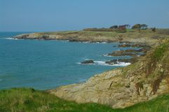 Brittany coast. Rocky coastline of brittany in france Stock Photography