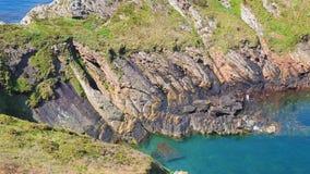 Brittany Coastline - enfoque-hacia fuera almacen de video
