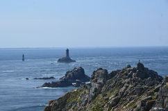 Brittany costal (France on JULY 2014. Brittany costal and lighthouse (France) on JULY 2014 Royalty Free Stock Photography