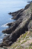 Brittany costal (France on JULY 2014. Brittany costal and rocks  (France) on JULY 2014 Royalty Free Stock Photo