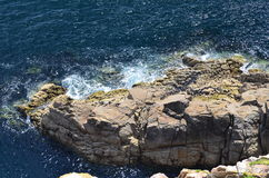 Brittany costal (France on JULY 2014. Brittany costal and rocks  (France) on JULY 2014 Royalty Free Stock Photos