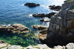 Brittany costal (France on JULY 2014. Brittany costal and rocks  (France) on JULY 2014 Royalty Free Stock Image