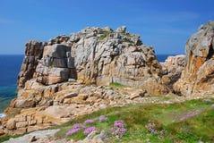 brittany cote de granit steg Royaltyfri Fotografi