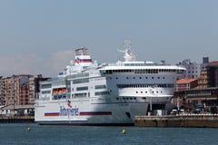Brittany Ferries-schip Royalty-vrije Stock Afbeelding