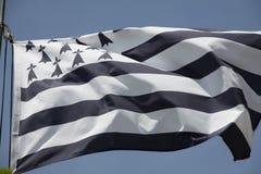 Brittany flaga Zdjęcia Royalty Free