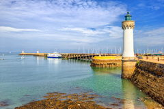 Brittany, France. Lighthouse on atlantic coast, Brittany, France royalty free stock images