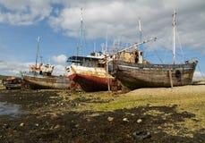 brittany france skeppsbrott Arkivfoto