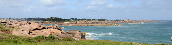 Brittany, granite rocks in Tregastel Royalty Free Stock Images