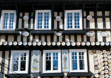 Brittany house. Brittany traditionnal house to visit in Quimper france Stock Images