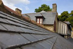 Brittany house roof. French traditional architecture seen on the old houses of Vannes, Brittany, France Royalty Free Stock Images