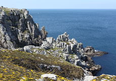 Brittany kust i Frankrike arkivbilder