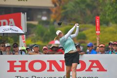 Brittany Lincicome in Honda LPGA Thailand 2018. Brittany Lincicome of USA in Honda LPGA Thailand 2018 at Siam Country Club, Old Course on February 24, 2018 in Royalty Free Stock Images