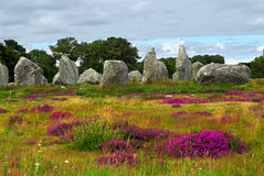 brittany megalithic monument Arkivfoton