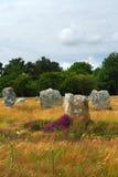 brittany megalithic monument Royaltyfri Foto