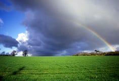 Brittany rainbow. royalty free stock image