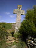 Brittany :  saint Mathieu old stone cross Stock Images