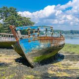 Brittany, a ship wreck royalty free stock photos
