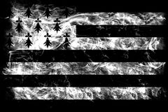 Brittany smoke flag, dependent territory flag.  Royalty Free Stock Image