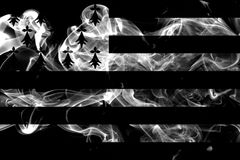 Brittany smoke flag, dependent territory flag.  Stock Images