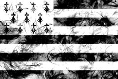 Brittany smoke flag, dependent territory flag.  Stock Image