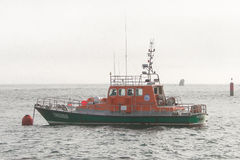 Brittany snabb motorbåt av havsräddningsaktionen Royaltyfria Foton