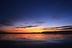 brittany solnedgång Arkivbilder
