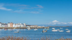 Brittany - View of the port of the island of Sein in good weathe Stock Photo