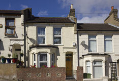 Britten inhyser fasaden i förorterna av Woolwich, London Royaltyfria Bilder