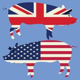 Brittish and American Stock Image