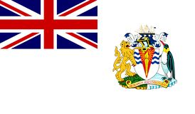 Brittisk antarktisk territoriumflagga vektor illustrationer
