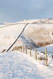 Brittisk bygd i vinter Arkivbilder