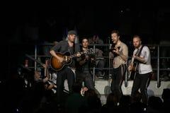 brittisk coldplay rock för band Royaltyfria Foton