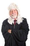 Brittisk domare - sort och mässa Royaltyfri Foto