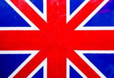 Brittisk flagga på träbrädet Royaltyfri Fotografi