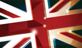 Brittisk flaggabakgrund Royaltyfria Foton