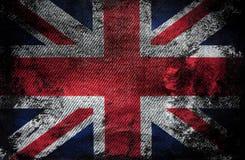 Brittisk flaggajeanstextur Royaltyfria Foton