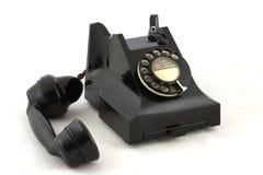 brittisk gammal telefon Arkivbild