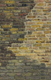 brittisk gammal vägg för tegelsten Fotografering för Bildbyråer