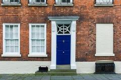 Brittisk husingångsdörr Arkivfoton