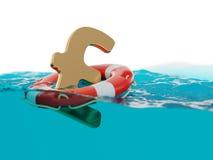 Brittisk illustration för ekonomiincitamentbegrepp 3d Fotografering för Bildbyråer