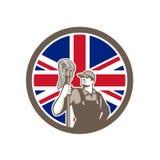Brittisk industriell rengöringsmedelunion Jack Flag Icon Royaltyfri Foto