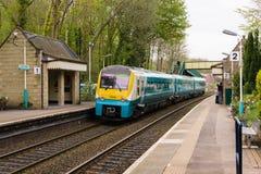 Brittisk järnvägsstation arkivbilder