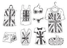 Brittisk kläder Arkivfoto
